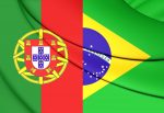 Flag Of Brazil And Portugal