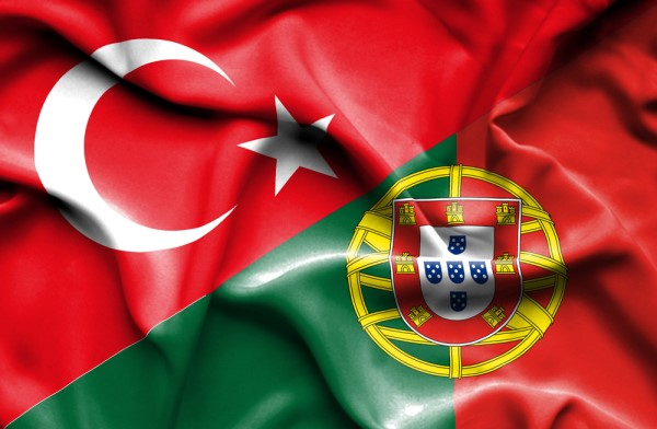 Portugal and Turkey flags